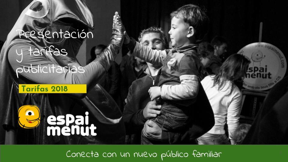 Presentación tarifas publicitarias ESPAI MENUT