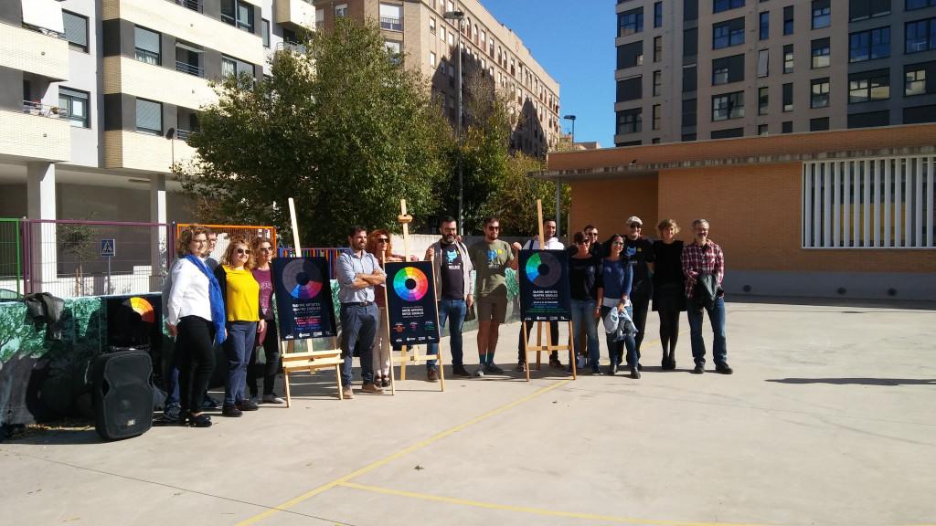 Presentación del '12 artistas, 12 escuelas' en el CEIP Estepar.