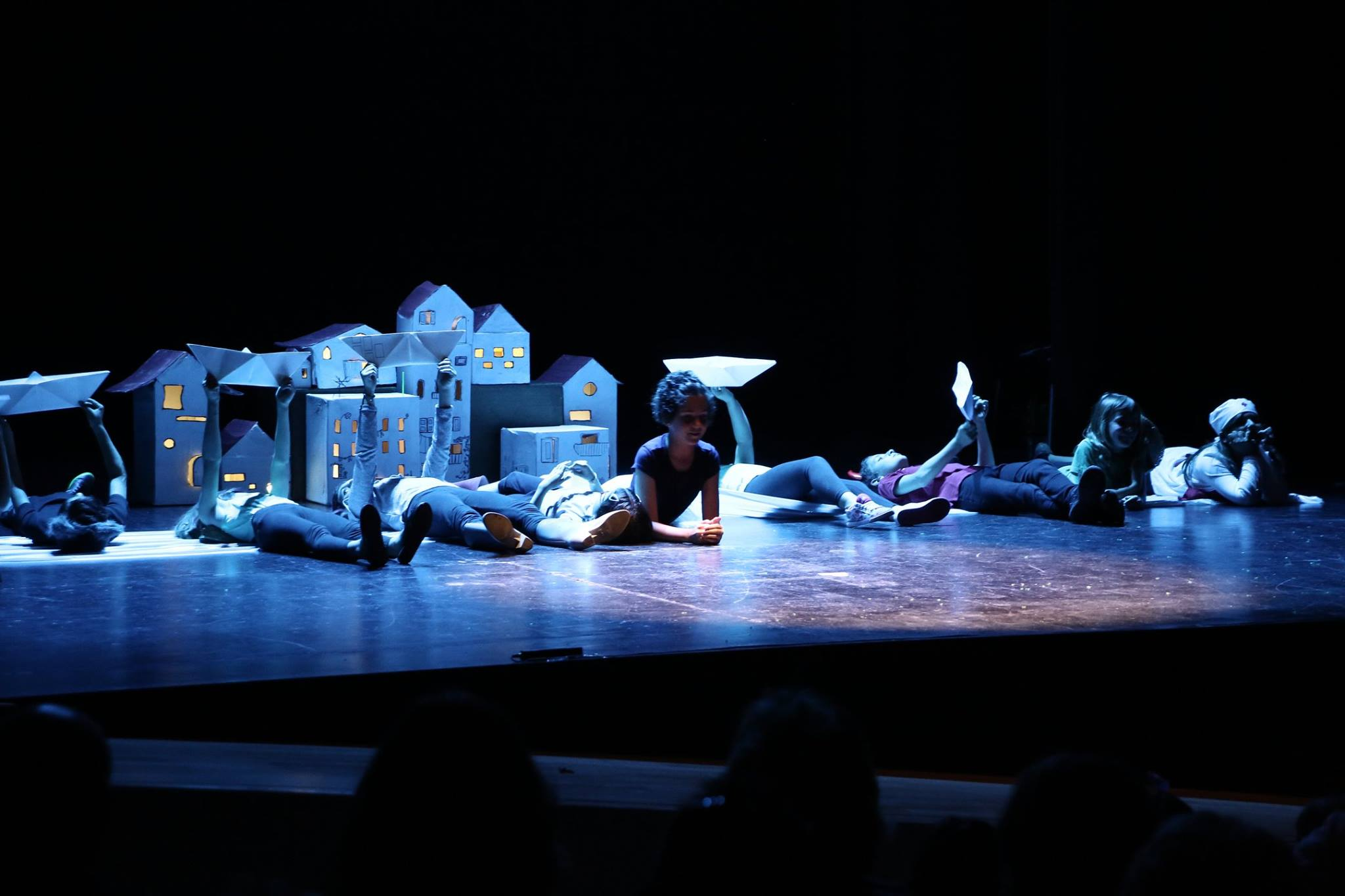 Durante la Muestra de Teatro Infantil de la EMTC.