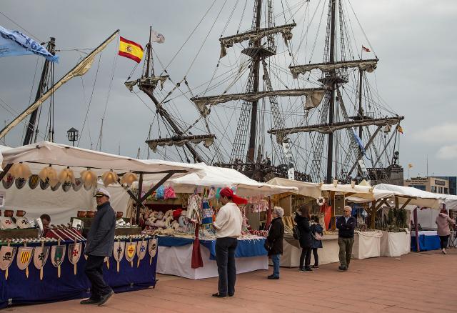 Mercado marítimo en Escala Castelló 2018