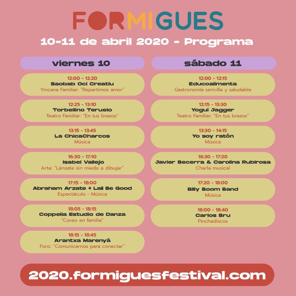 horario_Formigues 2020 online